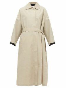 Jil Sander - Belted Canvas Trench Coat - Womens - Beige Multi