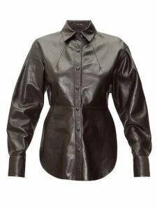 Isabel Marant - Xiao Leather Shirt - Womens - Black
