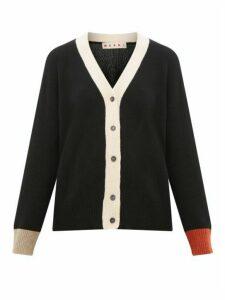 Marni - Contrast-cuff Cashmere Cardigan - Womens - Black Multi