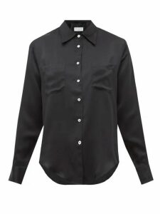 Officine Générale - Carine Silk-satin Shirt - Womens - Black