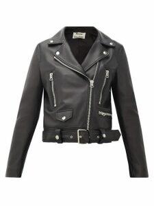 Acne Studios - Mock Smooth-leather Biker Jacket - Womens - Black