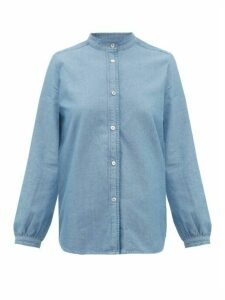 A.P.C. - Antoinette Cotton-chambray Shirt - Womens - Light Blue