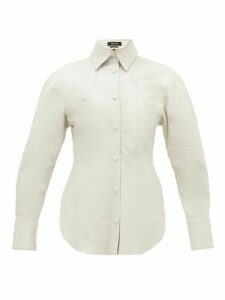 Isabel Marant - Xiao Curved-hem Leather Top - Womens - White