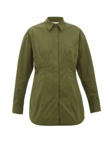 Marni - Cotton-poplin Shirt - Womens - Khaki
