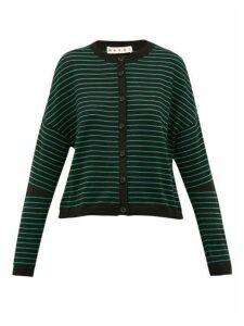 Marni - Striped Cotton-blend Cardigan - Womens - Black Multi