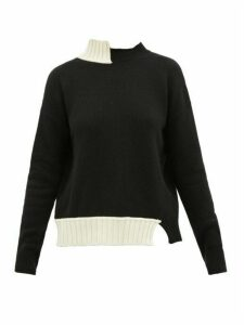 Marni - Asymmetric Virgin Wool-blend Sweater - Womens - Black Multi