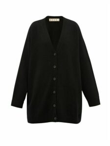 Marni - Oversized V-neck Cashmere Cardigan - Womens - Black Green
