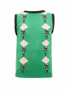 Marni - Intarsia-wool Tank Top - Womens - Multi