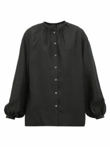 Joseph - Bowell Balloon-sleeved Silk Blouse - Womens - Black