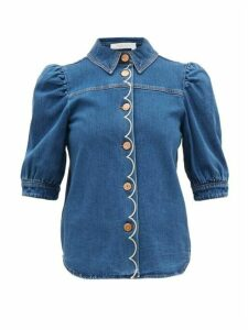 See By Chloé - Scalloped Denim Shirt - Womens - Denim