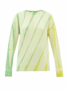 The Elder Statesman - Sunshine Tie-dye Cashmere Sweater - Womens - Ivory Multi
