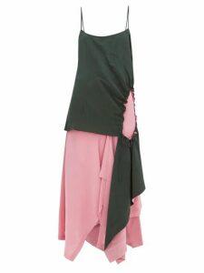 Colville - Asymmetric Cutout Top - Womens - Green