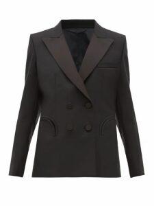 Blazé Milano - Charmer Double-breasted Wool Jacket - Womens - Navy Multi