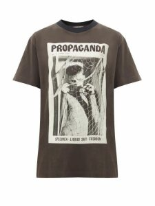 Acne Studios - Erice Propaganda Magazine-print Cotton T-shirt - Womens - Black
