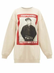 Acne Studios - Finale Propaganda Magazine-print Cotton Sweatshirt - Womens - Beige