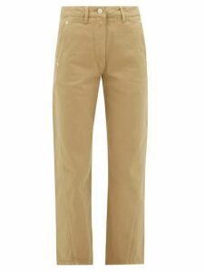 Lemaire - High-rise Denim Trousers - Womens - Camel