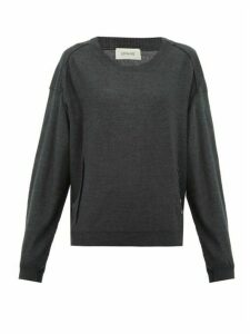 Lemaire - Merino Wool-blend Sweater - Womens - Dark Grey