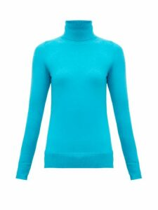 Joostricot - Roll-neck Cotton-blend Reachskin Sweater - Womens - Blue