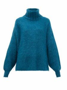 Joostricot - Roll-neck Mohair-blend Sweater - Womens - Dark Green