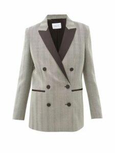 Racil - Aquila Satin-lapel Herringbone-wool Jacket - Womens - Grey