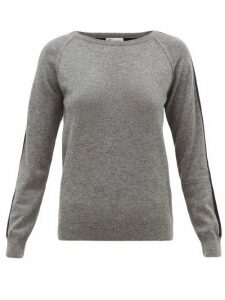 Johnston's Of Elgin - Lola Striped-sleeve Cashmere Sweater - Womens - Grey Multi