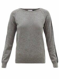 Johnston's Of Elgin - Lola Striped-sleeve Cashmere Sweater - Womens - Grey Multi