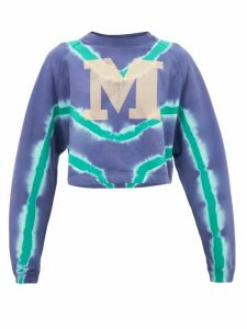 M Missoni - M-logo Tie-dyed Cotton Sweatshirt - Womens - Blue Multi
