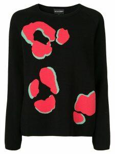 Emporio Armani Paw print jumper - Black