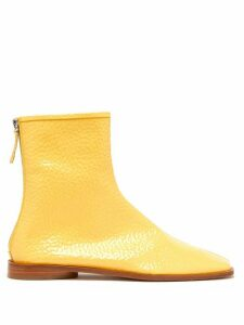 Acne Studios - Berta Square-toe Grained Patent-leather Boots - Womens - Beige