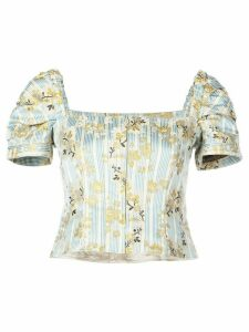 Brock Collection striped floral top - Blue