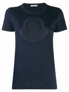Moncler logo patch T-shirt - Blue