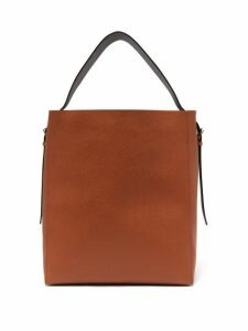 Valextra - Adjustable-strap Grained-leather Tote Bag - Womens - Tan