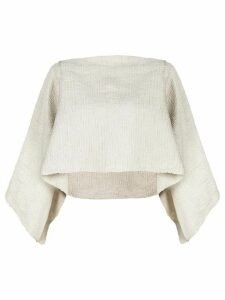 Voz cropped flared sweater - White