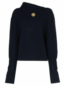 JW Anderson foldover-neck ribbed sweater - Blue