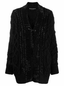 Ermanno Scervino cable knit cardi-coat - Black