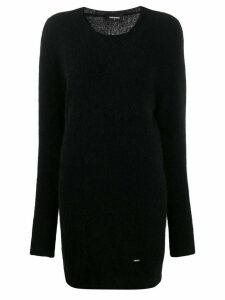 Dsquared2 longline textured sweater - Black
