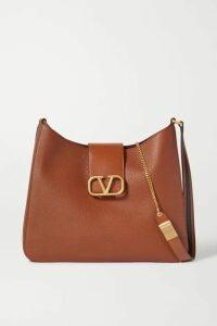 Valentino - Valentino Garavani Vsling Textured-leather Shoulder Bag - Brown