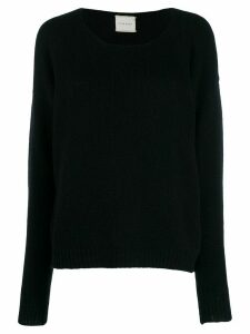 Fine Edge boyfriend crew neck sweater - Black