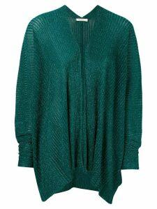 Mes Demoiselles asymmetric hem cardigan - Green