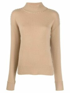 Theory cashmere stitch detail jumper - NEUTRALS