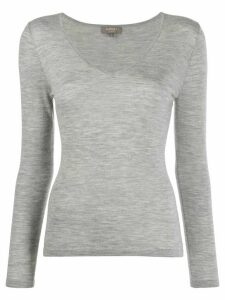 N.Peal v-neck jumper - Grey