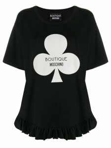 Boutique Moschino club graphic T-shirt - Black