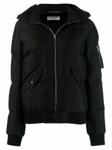 Saint Laurent zipped padded jacket - Black
