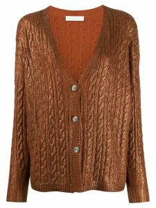 Fabiana Filippi oversized cashmere cardigan - Brown