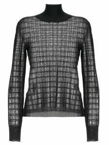 Chloé geometric knitted top - Black