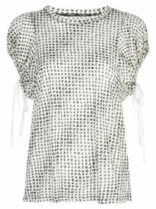 Proenza Schouler Short Sleeve Novely Tee - White