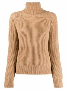 Remain roll neck ribbed jumper - NEUTRALS