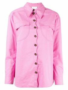 Acler Tana denim shirt - PINK