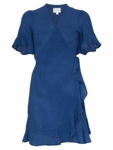 Honorine Edie wrapped front mini dress - Blue