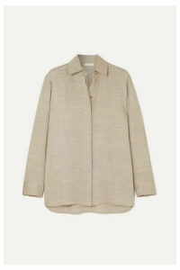 The Row - Big Sisea Oversized Wool And Silk-blend Blouse - Beige